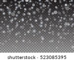 falling snowflake christmas... | Shutterstock .eps vector #523085395