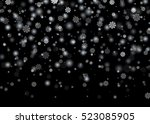 falling snow. christmas  new...