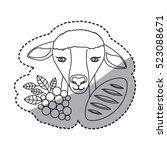 isolated religion sheep design   Shutterstock .eps vector #523088671