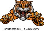 tiger jump | Shutterstock .eps vector #523093099