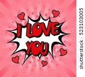 love design over dotted... | Shutterstock .eps vector #523103005