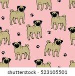 seamless vector background... | Shutterstock .eps vector #523105501
