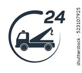 car tow service  24 hours ... | Shutterstock .eps vector #523107925