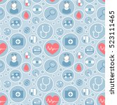 medical vector pattern for your ... | Shutterstock .eps vector #523111465