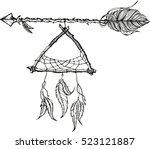 ethnic arrows  dreamcacther ... | Shutterstock .eps vector #523121887