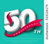anniversary emblems 50...   Shutterstock .eps vector #523126174