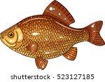 carassius carassius   Shutterstock .eps vector #523127185