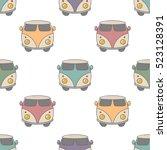 Classic Hippie Vans In Retro...