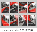 red collection set cover... | Shutterstock .eps vector #523129834