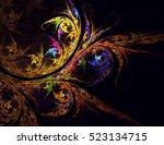 computer generated fractal...   Shutterstock . vector #523134715