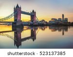 london tower bridge and thames... | Shutterstock . vector #523137385