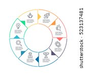 business infographics. outline...   Shutterstock .eps vector #523137481