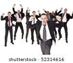 group of happy businessmen... | Shutterstock . vector #52314616