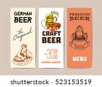 beer  vintage frame design for... | Shutterstock .eps vector #523153519