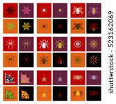 assembly flat icons halloween... | Shutterstock .eps vector #523162069