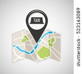 tax service map pin pointer... | Shutterstock .eps vector #523163089