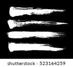 brush strokes. white ink... | Shutterstock .eps vector #523164259