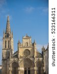 Small photo of France, the cathedral of Bazas in Gironde, Aquitaine