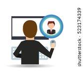 businessman community social... | Shutterstock .eps vector #523174339
