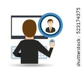 adult man glasses community... | Shutterstock .eps vector #523174375
