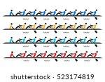 rowing race eights stylized