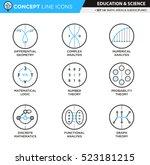 concept line icons set 14 math | Shutterstock .eps vector #523181215