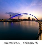a view of dubai canal and dubai ... | Shutterstock . vector #523183975