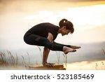Yoga Woman Mountain Peak