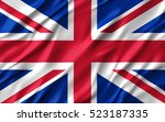 3d waving colorful england flag ... | Shutterstock . vector #523187335
