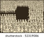 praying people making hole for... | Shutterstock .eps vector #52319086