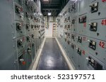 electrical panel board motors... | Shutterstock . vector #523197571