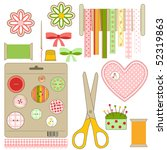 set of  crafts and needlework... | Shutterstock .eps vector #52319863