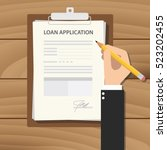 loan application form... | Shutterstock .eps vector #523202455