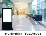 blank white billboard in the...   Shutterstock . vector #523205911