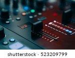professional concert dj sound... | Shutterstock . vector #523209799