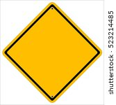 isolated blank yellow sign | Shutterstock .eps vector #523214485