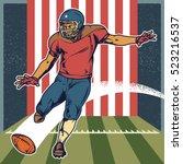 Retro American Football Player...