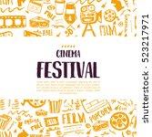 cinema festival poster with...   Shutterstock .eps vector #523217971
