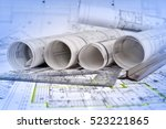 architectural project  | Shutterstock . vector #523221865