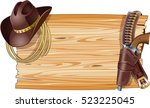 wild west background with... | Shutterstock .eps vector #523225045