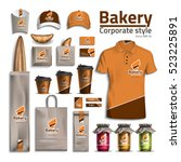 corporate style bakery. design... | Shutterstock .eps vector #523225891