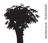 tree isolated vector  black... | Shutterstock .eps vector #523231669