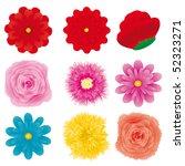 set of flower design element ... | Shutterstock .eps vector #52323271