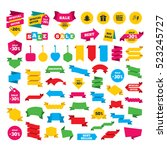 web stickers  banners and... | Shutterstock . vector #523245727