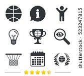 basketball sport icons. ball... | Shutterstock . vector #523247815
