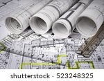 architectural project  | Shutterstock . vector #523248325