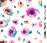 seamless gentle floral pattern... | Shutterstock . vector #523248781