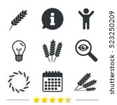 agricultural icons. gluten free ... | Shutterstock . vector #523250209