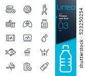 lineo   fitness and gym line... | Shutterstock .eps vector #523250254