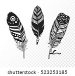 hand drawn bohemian chic style... | Shutterstock .eps vector #523253185